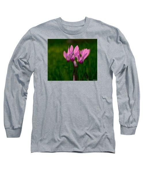 Pink Light Long Sleeve T-Shirt by Uri Baruch