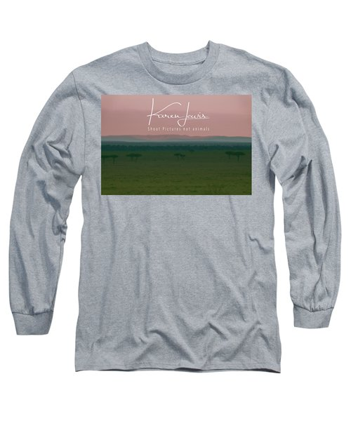 Long Sleeve T-Shirt featuring the photograph Pink Mara Dawn by Karen Lewis