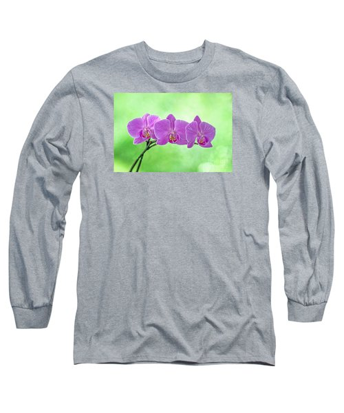 Long Sleeve T-Shirt featuring the photograph Pink Orchids by Alana Ranney