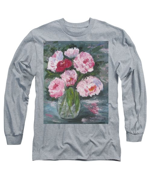 Pink Peonies Long Sleeve T-Shirt