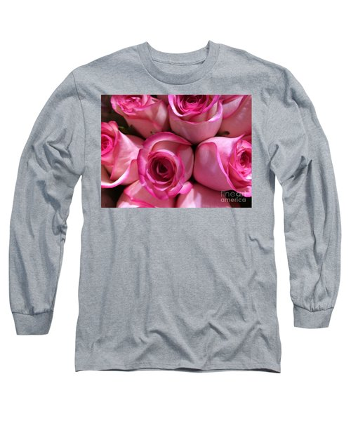 Pink Rose Bouquet Long Sleeve T-Shirt