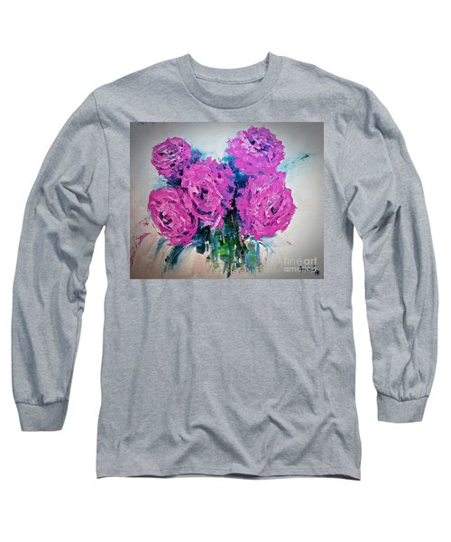 Pink Roses Long Sleeve T-Shirt