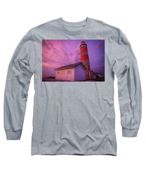 Pink Skies At Cape Moreton Lighthouse Long Sleeve T-Shirt