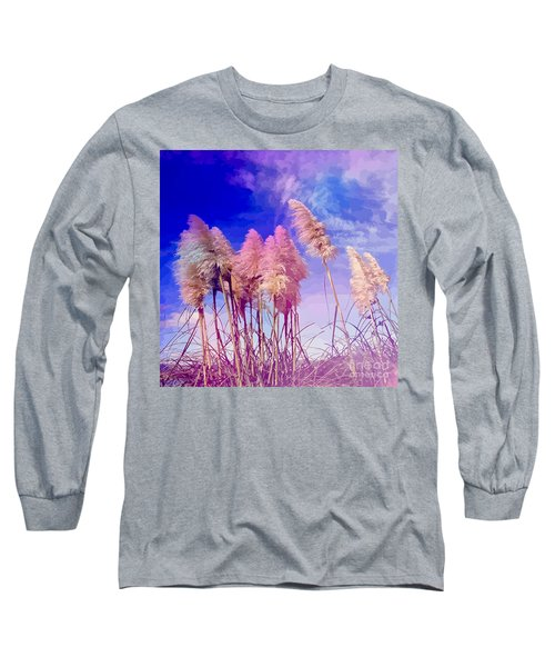 Pink Toi Toi Grasses Long Sleeve T-Shirt
