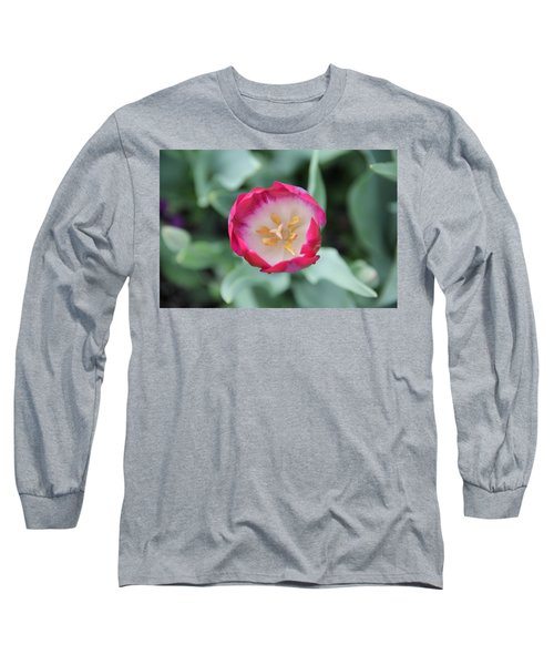 Pink Tulip Top View Long Sleeve T-Shirt