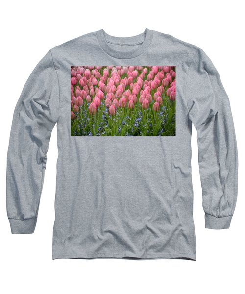 Pink Tulips Long Sleeve T-Shirt by Phyllis Peterson