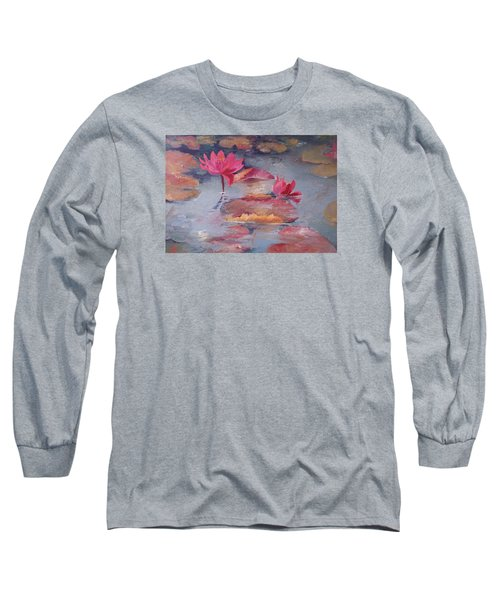Pink Waterlilies Long Sleeve T-Shirt
