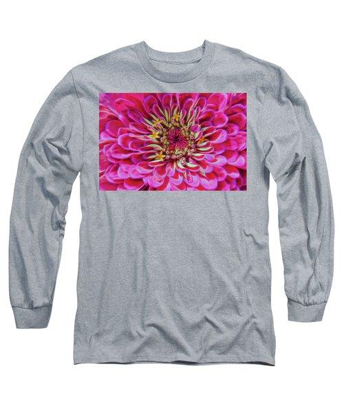 Pink Zinnia Glow Long Sleeve T-Shirt