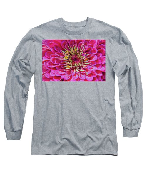 Pink Zinnia Glow Long Sleeve T-Shirt