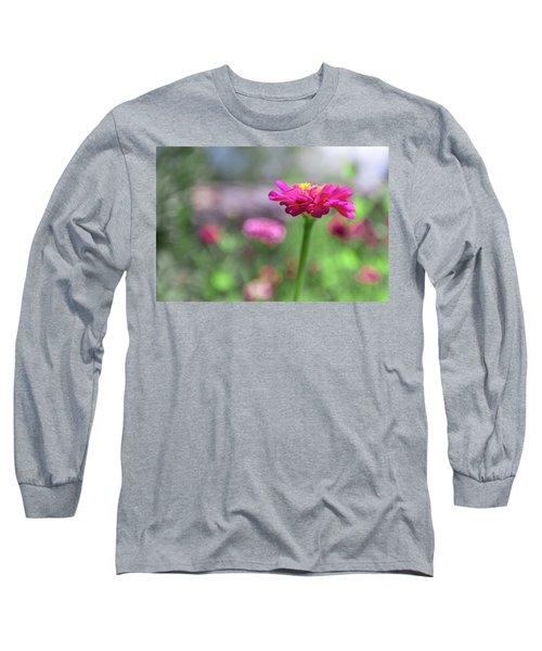 Pink Zinnia Long Sleeve T-Shirt
