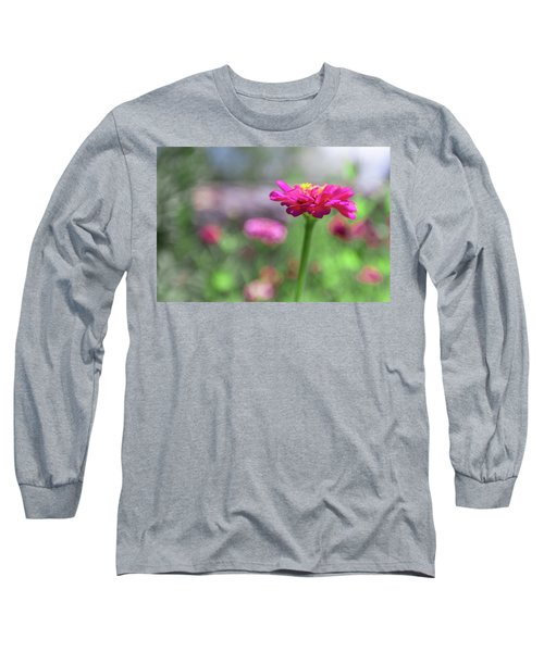 Pink Zinnia Long Sleeve T-Shirt