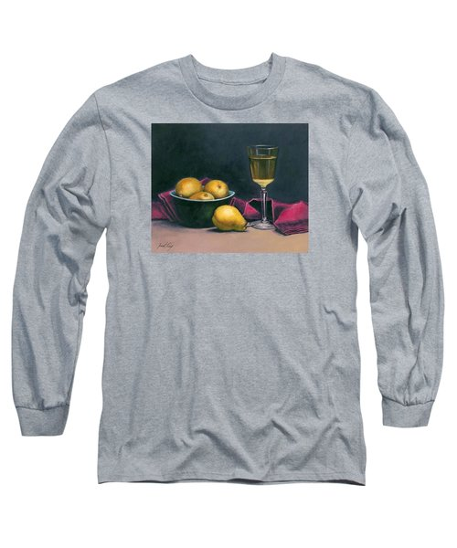 Long Sleeve T-Shirt featuring the painting Pinot And Pears Still Life by Janet King