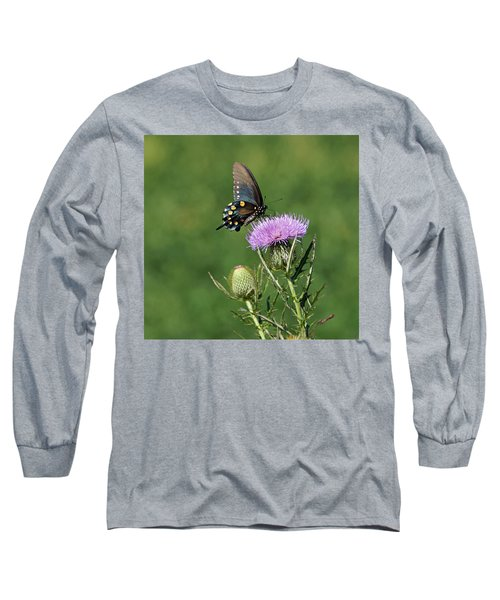 Long Sleeve T-Shirt featuring the photograph Pipevine Swallowtail by Sandy Keeton