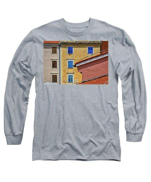 Long Sleeve T-Shirt featuring the photograph Piran Colors - Slovenia by Stuart Litoff