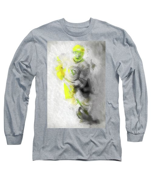 Long Sleeve T-Shirt featuring the photograph Pittsburgh Penguins Nhl Sidney Crosby Painting Fantasy by David Haskett