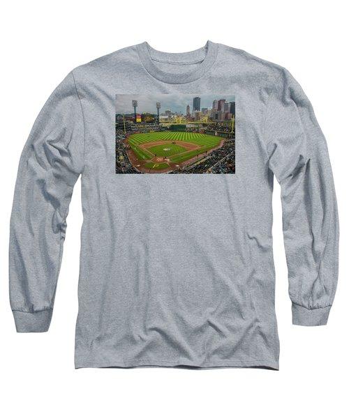 Pittsburgh Pirates Pnc Park 5569 Long Sleeve T-Shirt by David Haskett