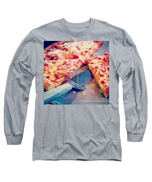 Pizza Long Sleeve T-Shirt by Raymond Earley