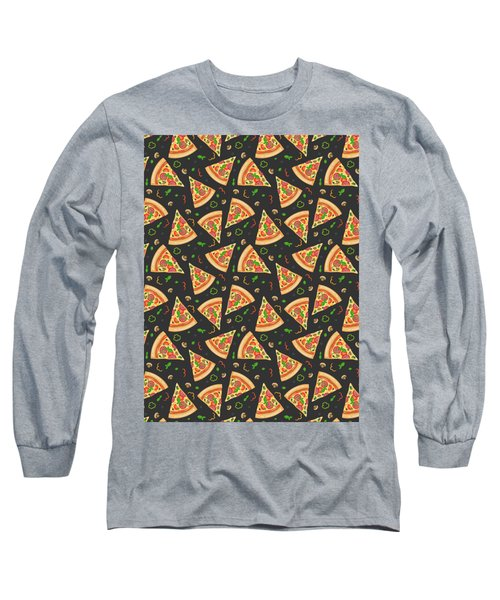 Pizza Slices Long Sleeve T-Shirt by Ludmila Novikova