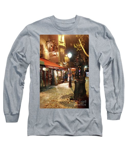 Place St Michel To Rue Saint-andre Des Arts Long Sleeve T-Shirt by Felipe Adan Lerma
