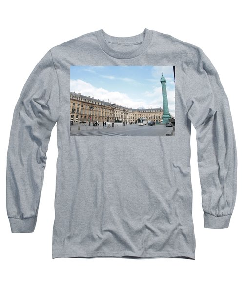 Long Sleeve T-Shirt featuring the photograph Place Vendome by Christopher Kirby