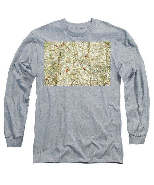 Long Sleeve T-Shirt featuring the photograph Plan Of Central London by Patricia Hofmeester