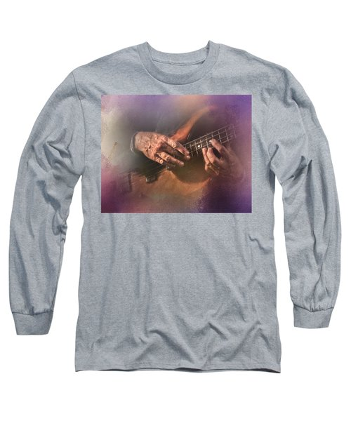 Play Me Some Blues Long Sleeve T-Shirt by David and Carol Kelly