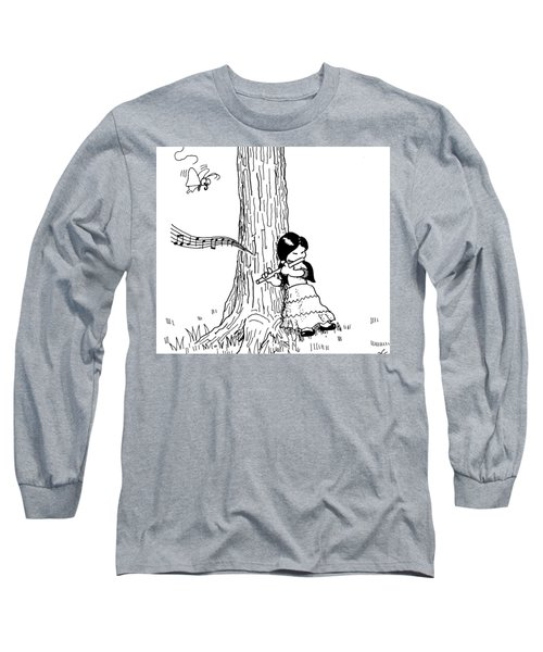 Play The Flute Under The Tree Long Sleeve T-Shirt