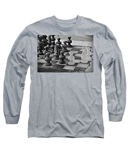 Long Sleeve T-Shirt featuring the photograph Playing Chess by Cendrine Marrouat
