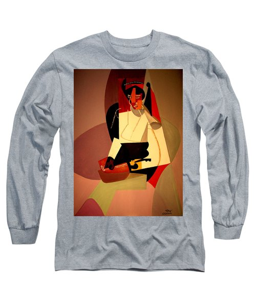 Playing The Mandolin Long Sleeve T-Shirt by Bill OConnor