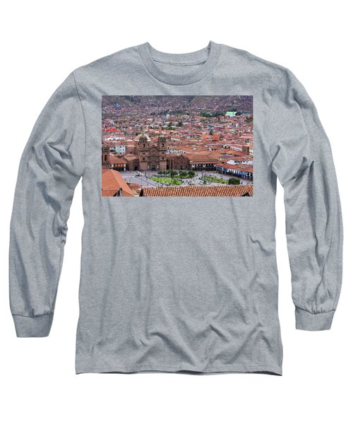 Long Sleeve T-Shirt featuring the photograph Plaza De Armas, Cusco, Peru by Aidan Moran