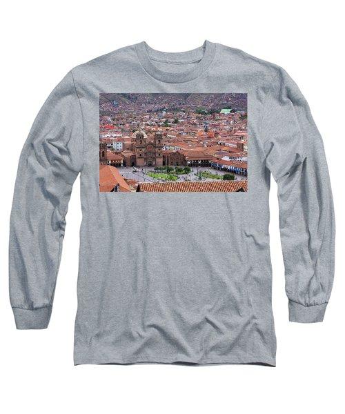 Plaza De Armas, Cusco, Peru Long Sleeve T-Shirt by Aidan Moran