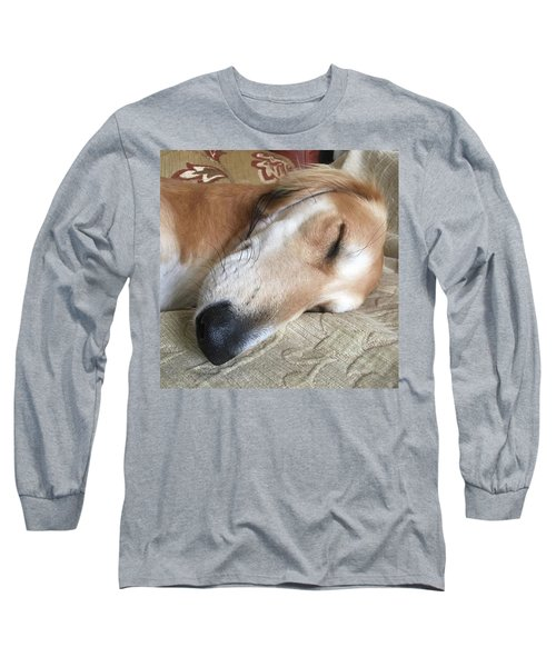 Please Be Quiet. Saluki Long Sleeve T-Shirt by John Edwards