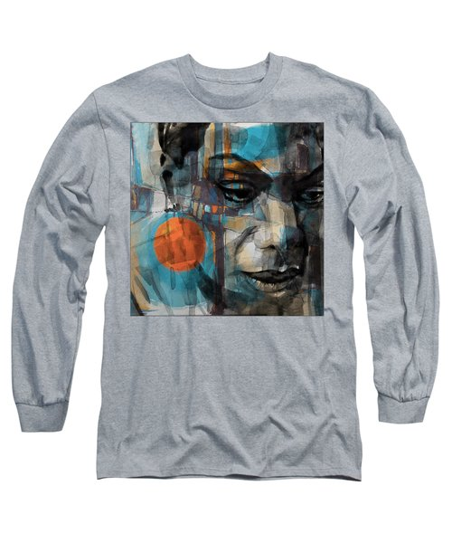 Long Sleeve T-Shirt featuring the mixed media Please Don't Let Me Be Misunderstood by Paul Lovering