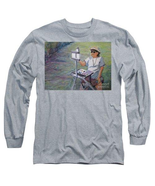 Plein-air Painter Bj Long Sleeve T-Shirt by Gretchen Allen