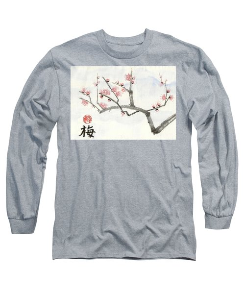 Plum Ume Branch Long Sleeve T-Shirt