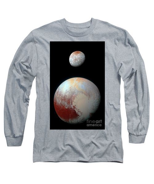 Long Sleeve T-Shirt featuring the photograph Pluto And Charon by Nicholas Burningham