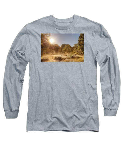 Plying Steamy Waters Long Sleeve T-Shirt by Robert Charity