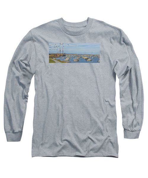 Long Sleeve T-Shirt featuring the photograph Plymouth Harbor In September by Constantine Gregory