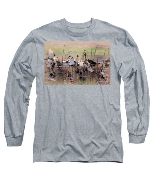 Pods At Sunset Long Sleeve T-Shirt by Mary Lou Chmura