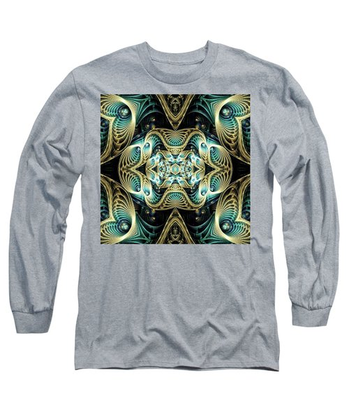 Long Sleeve T-Shirt featuring the digital art Poetry In Motion by Lea Wiggins