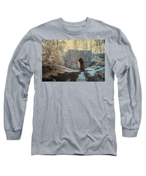 Long Sleeve T-Shirt featuring the photograph Poinsett Bridge-ir-10 by Joye Ardyn Durham