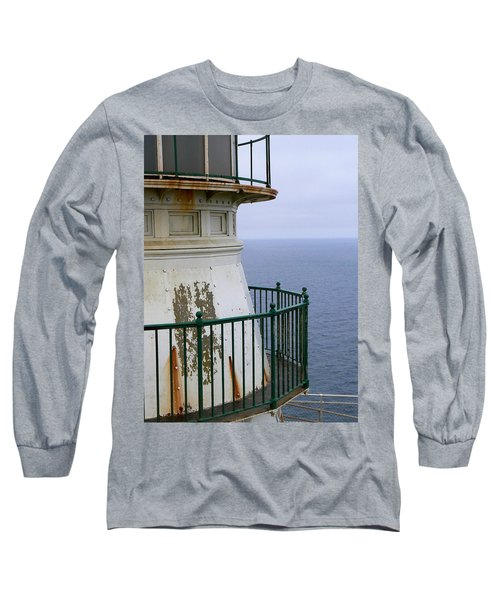 Point Reyes And The Pacific Ocean Long Sleeve T-Shirt by Laurel Powell