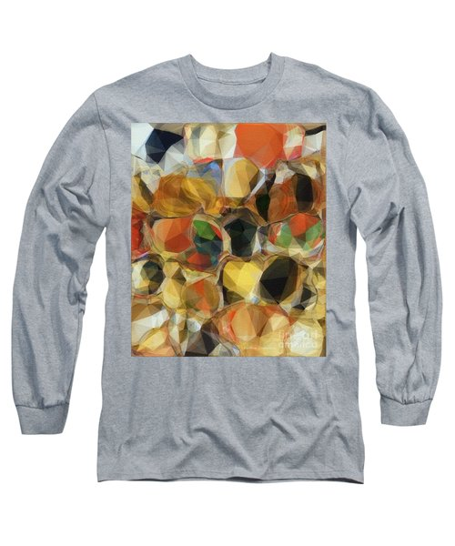 Crazy Quilt Long Sleeve T-Shirt by Kathie Chicoine