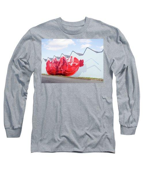 Long Sleeve T-Shirt featuring the photograph Polar Bear In A Coke Bottle by Chris Dutton