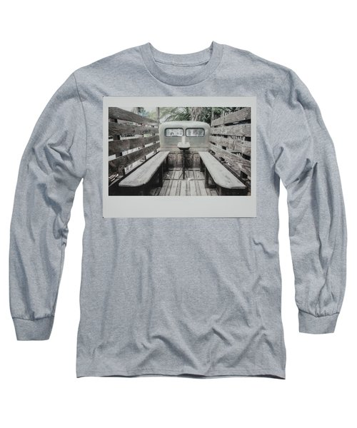 Polaroid Image-old Truck Bench Seats Long Sleeve T-Shirt