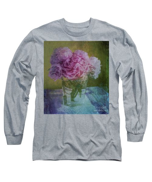 Polite Peonies Long Sleeve T-Shirt by Alexis Rotella