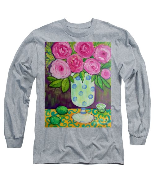 Polka-dot Vase Long Sleeve T-Shirt by Rosemary Aubut