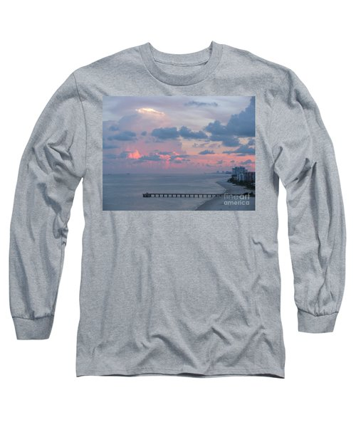 Pompano Pier At Sunset Long Sleeve T-Shirt