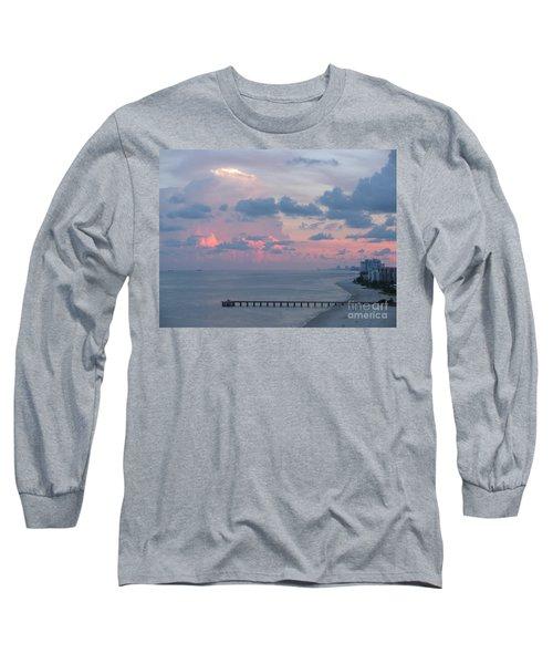 Pompano Pier At Sunset Long Sleeve T-Shirt