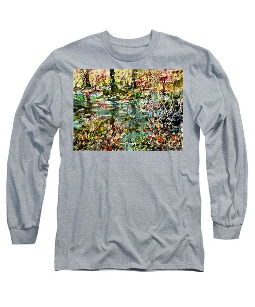 Pond And Beyond Long Sleeve T-Shirt by Alfred Motzer